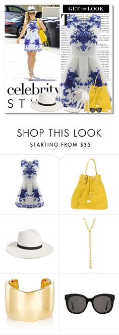 """""""Celebrity Style"""" by barbarapoole ❤ liked on Polyvore featuring Blugirl, Janessa Leone, Jules Smith, Jennifer Fisher and Gentle Monster"""