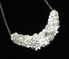 Bridal Bib Necklace VintageInspired Wedding by BrassBoheme on Etsy, $75.00