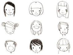 девушки карандашом для срисовки