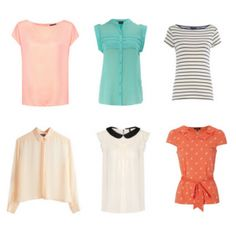 How to build a work wardrobe from scratch.  Step 2: Tops