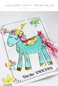 cute unicorn craft and activities for kids and toddlers | more on the blog