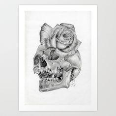 Beauty In Death  Art Print by Art By Warren