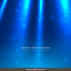 Blue lights and bokeh background  (This site has free vectors and backgrounds for commercial use, so long as author is attributed)