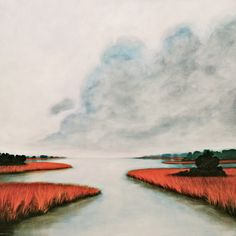 Intercoastal Waterway - Jamee Linton x Art Museum, Portland, Original Paintings, Fine Art, Color, Colour, Visual Arts, Colors