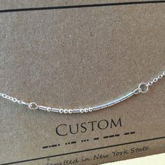 CUSTOM Morse Code Necklace Custom Name Necklace por InaLeiDesigns