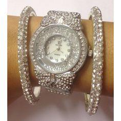Lemonade Crystal Watch and Bangle Combo