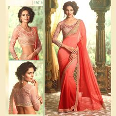 Party Wear Designer Georgette Sari