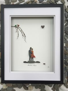 Custom Order Pebble Art Couple Engagement Gift Art Modern Wall Art Abstract Contemporary Signed. by SusiUhlArt on Etsy https://www.etsy.com/listing/493470161/custom-order-pebble-art-couple