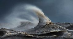 The fury of the waves in the photo Dave Sandford 03