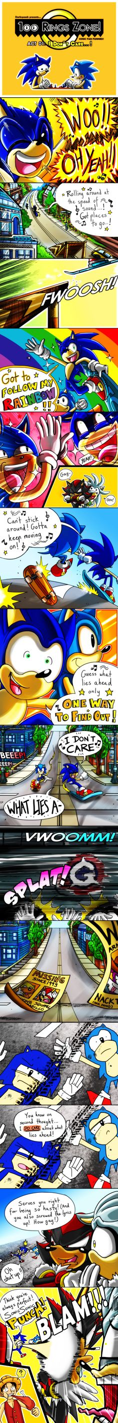 100 Rings Zone - Funnies 001 - 'I Don't Care' by ElsonWong