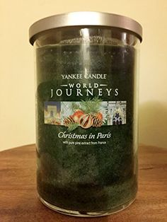 Yankee Candle World Journeys 20 oz Large Tumbler Candle CHRISTMAS IN PARIS with pure Natural extract From France Yankee Candle http://www.amazon.com/dp/B004UC3ZZ6/ref=cm_sw_r_pi_dp_fIq3wb0H03BEC