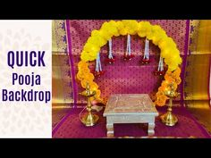 Diy Backdrop, Backdrop Decorations, Flower Decorations, Garland Decoration, Home Flower Decor, Paper Flower Decor, Diy Diwali Decorations, Festival Decorations, Ganpati Decoration Design