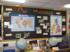 Our Holiday Display, classroom display, class display, Places, place, geography, town, Map, city, seaside, Early Years (EYFS), KS1 & KS2 Primary Resources