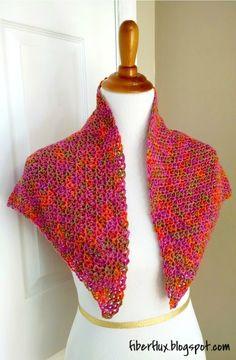 Zinnia Flower Shawl, free crochet pattern from Fiber Flux