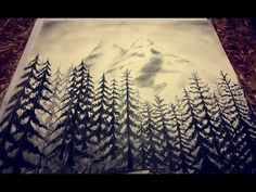 charcoal drawing mountains landscape drawings easy mountain draw sketch landscapes beginners cool