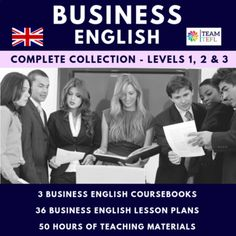 Business English Coursebook Bundle - Levels 1, 2 and 3 by TEAM TEFL English Lesson Plans, Esl Lesson Plans, Teacher Lesson Plans, English Lessons, Esl Lessons, English Course, Teaching Materials, Communication Skills, Teaching English