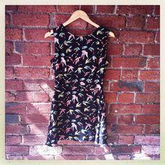 Birdy print dress