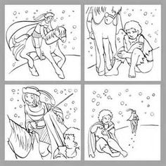 Saint Martin of Tours sharing his cloak. Feast is November 11 Flag Coloring Pages, Flower Coloring Pages, Coloring Pages For Kids, Coloring Books, Catholic Crafts, Catholic Kids, Catholic Saints, Fete Saint Martin, Centurion Romain