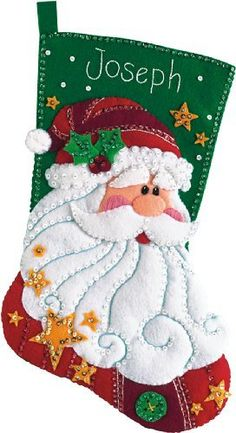Dimensions Sequined Santa Stocking by Dimensions Needlecrafts, http://www.amazon.com/gp/product/B0006FUHGQ/ref=cm_sw_r_pi_alp_4Pw3qb0CRT7HY