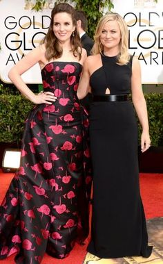 2014 Golden Globes - Red Carpet - Tina Fey & Amy Poehler