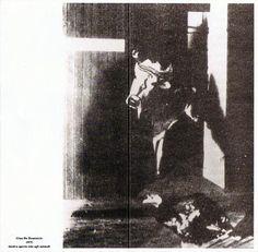 Invito della Mostra aperta solo agli animali di Gino De Dominicis, 1975