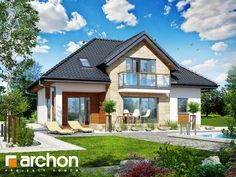 Projekt domu Dom w kalateach 6 (T) - ARCHON+ Home Fashion, Teak, Mansions, House Styles, Home Decor, Mansion Houses, Homemade Home Decor, Villas, Fancy Houses