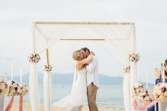 Beach ceremony | Debenhams Wedding Dress |  Destination Wedding At The W Retreat In Koh Samui in Thailand | Images by French Connection Photography | http://www.rockmywedding.co.uk/kelly-andrew/