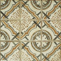 Polanco 1 is a unique terracotta tile from our collection of hand painted tiles inspired by Polanco, Mexico City.