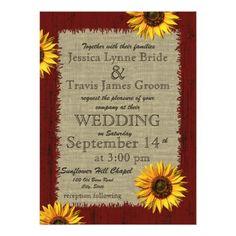 Barnwood and Burlap Sunflower Wedding Invitation - Wedding Ideas - Boda Maroon Wedding, Lilac Wedding, Fall Wedding, Wedding Ideas, Dream Wedding, Wedding Stuff, Red Sunflower Wedding, Wedding Ceremony, Sunflower Party