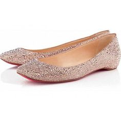 Christian Louboutin | Corafront patent-leather point-toe flats ...