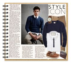 """""""Icon"""" by bamra ❤ liked on Polyvore featuring Urban Pipeline, Brooks Brothers, Gucci, Sperry, Valentino, Timex, men's fashion and menswear"""