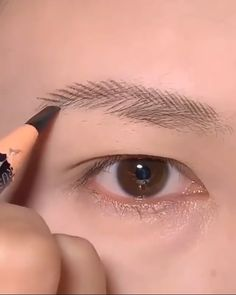 Sexy Eye Makeup, Eyebrow Makeup Tips, Korean Eye Makeup, Korea Makeup, Creative Eye Makeup, Glamour Makeup, Hair And Makeup Tips, Cute Makeup, Makeup Videos
