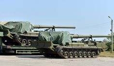 Transfer of the new military equipment to the Ukrainian Armed Forces, 2S7 «Pion», Chuhuiv military airfield, 12 August 2015 #ukraine #military #army