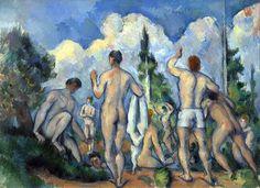 Paul Cézanne, Bathers, c.1890 on ArtStack #paul-cezanne #art
