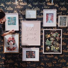 wrapping up our booth setup for the National Stationery Show in NYC! show starts tomorrow and we're in booth 1728 (w/ #garancedorepaper in booth 1736) - #riflepaperco #nss | Anna Bond @annariflebond | Websta