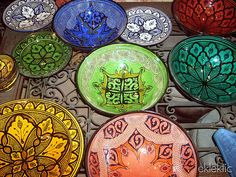 Moroccan bowls and trays for desserts and trail mix.