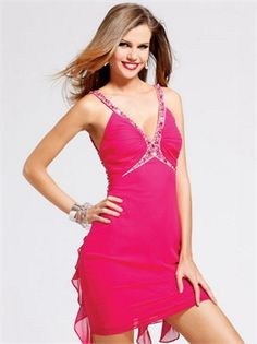 Strap V-neck Jeweled Lowback Fuchsia Mini Prom Dress PD1193 http://www.simpledresses.co.uk/strap-v-neck-jeweled-lowback-fuchsia-mini-prom-dress-pd1193-p4170.html £73.0000
