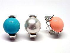 110250110187. Pendientes de plata de primera ley con perla pasada mabe de 1,4 cm de diametro de color a elegir blanco, rosa o azul y con cierre omega.PRECIO:45,3€