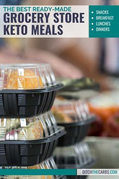 Find out which ready-made grocery store keto meals okay to eat with our list best picks! #ditchthecarbs #ketomeals #ketogroceries #lowcarbmeals Low Carb Meal Plan, Low Carb Lunch, Low Carb Keto, Low Carb Recipes, Ditch The Carbs, Chipped Beef, No Sugar Foods, Nut Butter, Keto Snacks