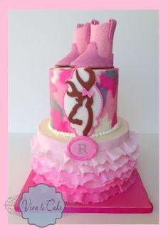 cake browning and pink camo cake more baby cake cake ideas cake decor