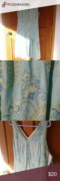 Cute bohochic dress Paisley floral flowy dress Tommy Hilfiger Dresses