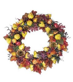 Fall Wreath with Fruit