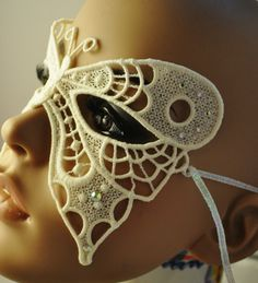Bridal White Butterfly Mask