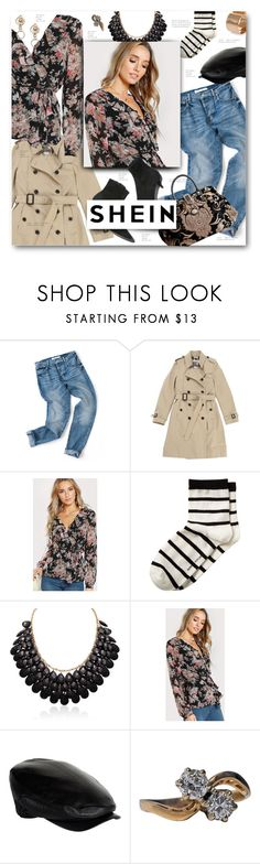 """""""Romantic"""" by sierrrrrra ❤ liked on Polyvore featuring Burberry, Banana Republic, Adoriana, Philip Treacy and Dsquared2"""