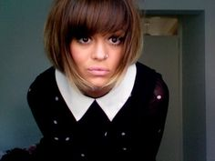 ombre bob w/bangs. LOVE the cut and color, YAY!