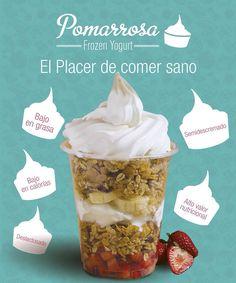 El placer de comer sano Yogurt, Frozen, Breakfast, Food, Eat Healthy, Morning Coffee, Essen, Meals, Yemek