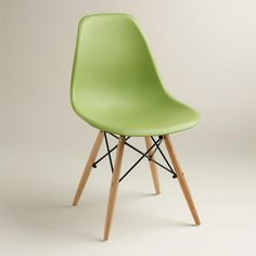One of my favorite discoveries at WorldMarket.com: Green Molded Evie Chairs, Set of 2