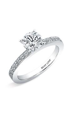 Bony Levy Bridal Channel Set Diamond Semi Mount Ring (Nordstrom Exclusive) available at #Nordstrom