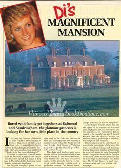Di's Magnificent Mansion: Our Princess Diana news article for 16 February 2016 Princess Diana Rare, Royal Princess, Princess Of Wales, Princes Diana, Images Of Princess, Anmer Hall, Diana Memorial, Diana Williams, Kingdom Of Heaven