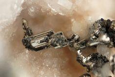 Sylvanite, (Au,Ag)2Te4, Sacarîmb (Nagyág), Hunedoara, Romania. Fov 3 mm. Copyright: Stephan Wolfsried